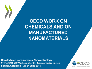 oecd chemicals and nano colombia june 2015 Mar gonzalez
