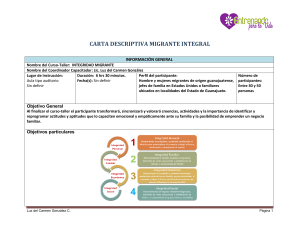 CARTA DESCRIPTIVA MIGRANTE INTEGRAL