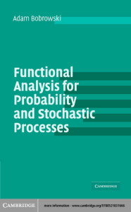 Functional Analysis for Probabilidad
