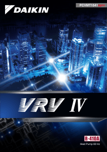VRV-IV  HP Sales Catalogue - PCVMT1541aprvA4