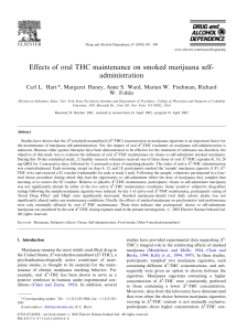 Effects of oral THC maintenance on smoked marijuana self-administration