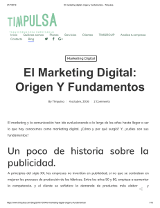 El marketing digital  origen y fundamentos