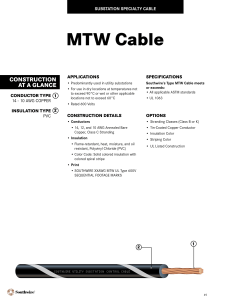 Southwire MTW Cable