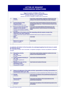 00902 Convenio Obtencion de pruebas en el extranjeros Guidelines for completing the Model Form ingles frances