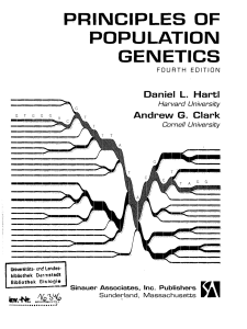 Principles of population genetics. Harti. Clark