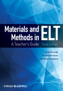 McDonough et al 2010 Materials and methods in ELT