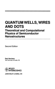 [Paul Harrison] Quantum wells, wires, and dots th(BookFi.org)