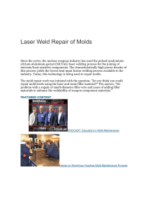 Laser Weld Repair of Molds