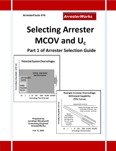 ArresterFacts 016 Selecting Arrester MCOV-Uc