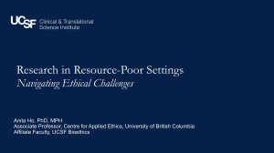 Research in Resource-Poor Settings Navigating Ethical Challenges