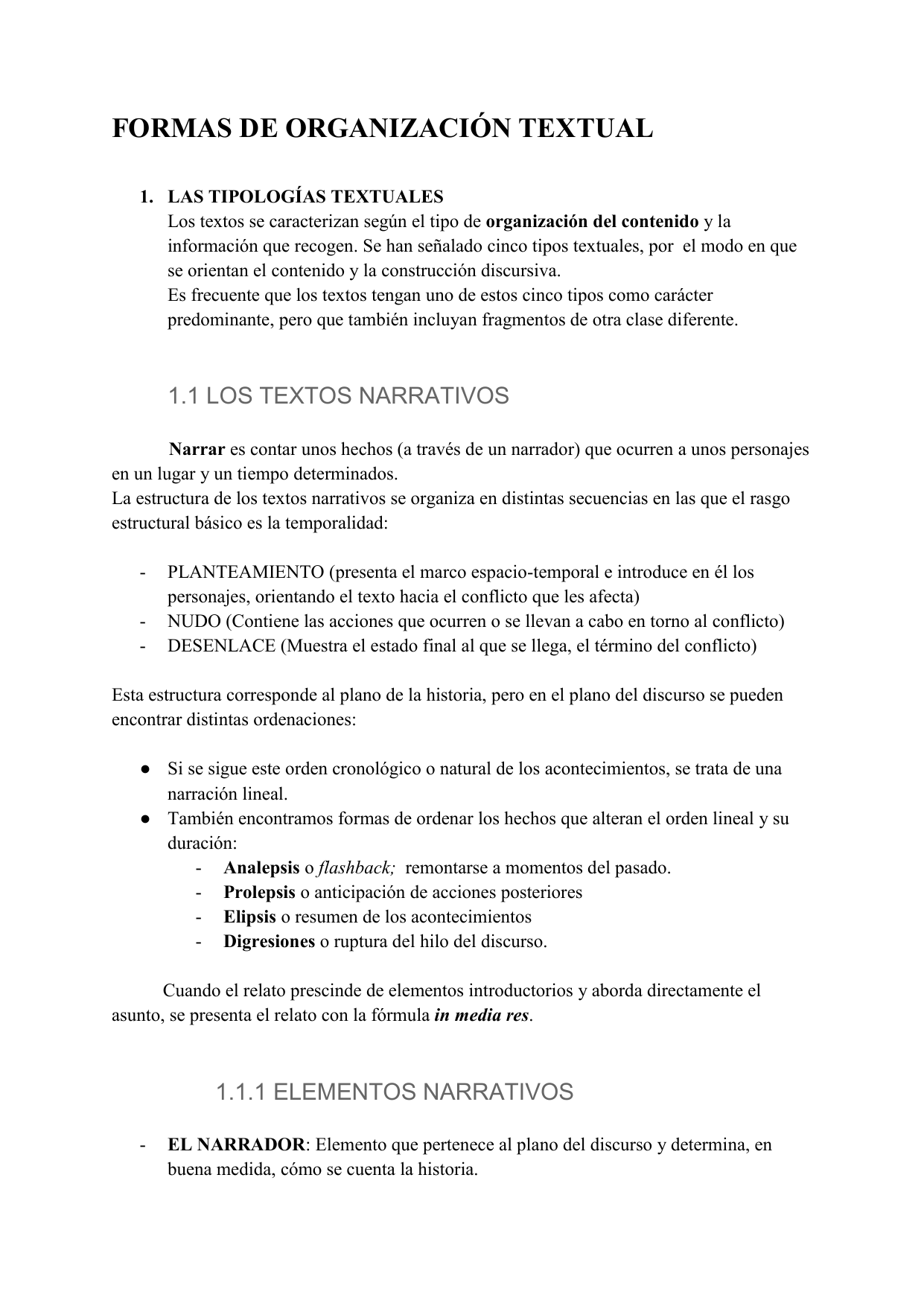Formas De Organización Textual