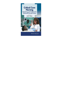 Critical Care Nursing  Monitoring and Treatment for Advanced Nursing Practice ( PDFDrive - Copy