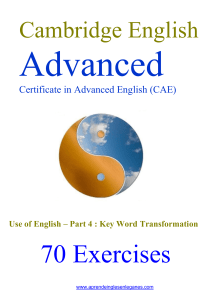 70 CAE  KEY WORD TRANSFORMATIONS.doc