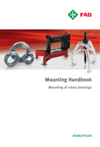 Mounting-of-rotary-bearings