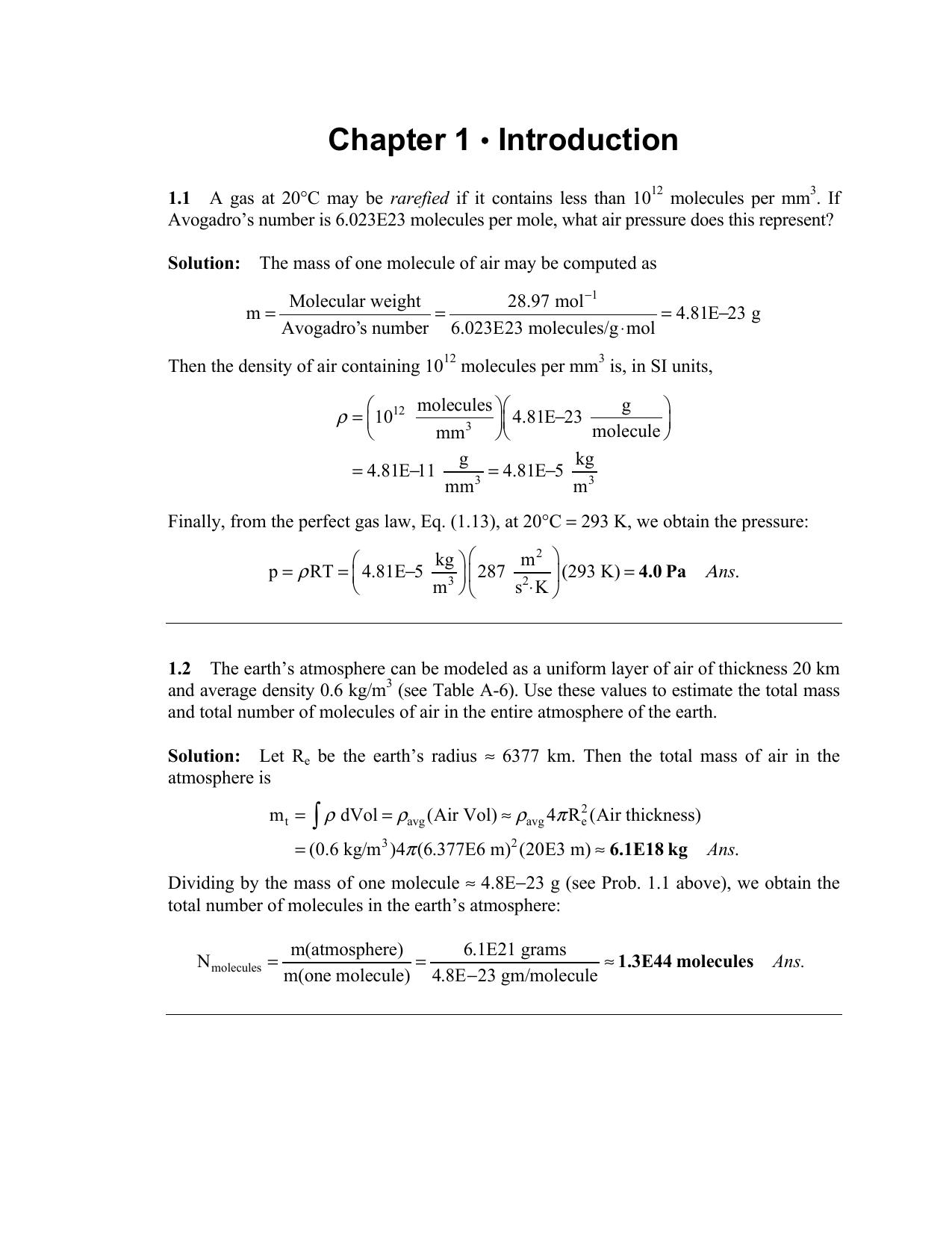 Fluidos- Frank M. White- Fluid Mechanics- Solutions