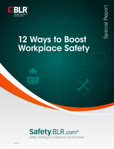 12 ways boost workpl safety