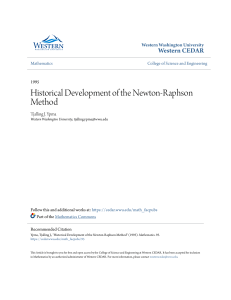 Historical Development of the Newton-Raphson Method(1)