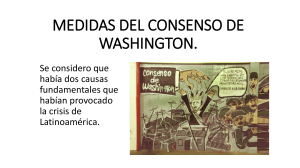 10. MEDIDAS DEL CONSENSO DE WASHINGTON