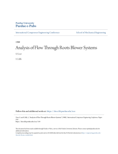 ++Analysis of Flow Through Roots Blower Systems
