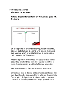 ANTENAS, MANUAL DE CONSTRUCCION