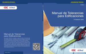 Manual tolerancias para edificaciones 2018
