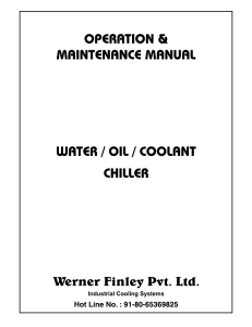 Werner Water Chiller Manual