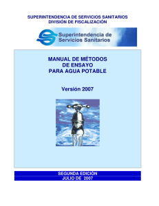 MANUAL SISS - ANALISIS EN AGUA POTABLE 1