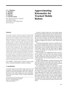 Approximating Kinematics for Tracked Mobile Robots