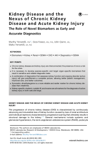 kidney disease and the nexus of chronic kidney disease and acute kidney injury