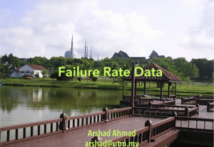 Failure rate data