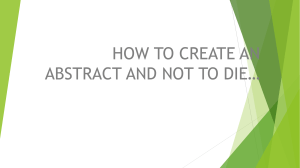 HOW TO CREATE A ABSTRACT