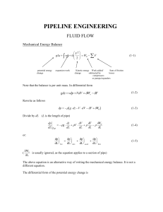 Pipeline Engineering