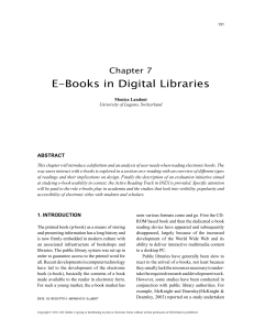 E-Publishing and Digital Libraries (Ebboks in digital libraries)