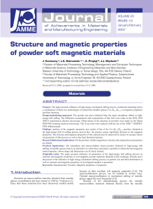 Structure and magnetic properties of pow