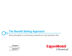 exxon mobil backup benefit selling approach