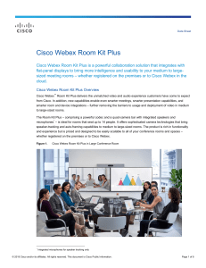 cisco roomkitplus datasheet