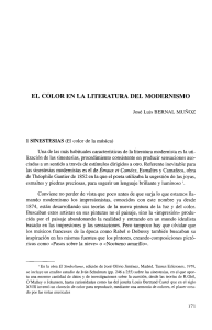 color en la literatura del odernismo