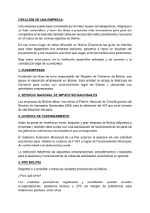 REQUISITOS PARA EMPRESAS BOLIVIA