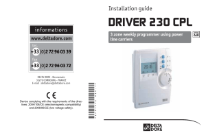 DRIVER 230 CPL install guide