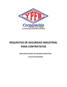 Anexo 5.1 Requisitos de Seguridad Industrial para Contratistas