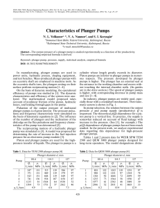 Bombas Characteristics of Plunger Pumps