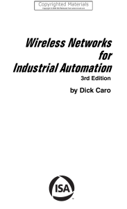 Caro, Dick - Wireless Networks for Industrial Automation-ISA (2008)