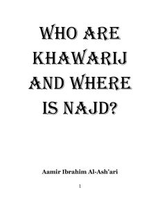 Who are Khawarij and where is Najd for Islam