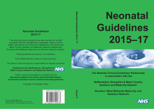 Neonatal Guidelines 2015 2017