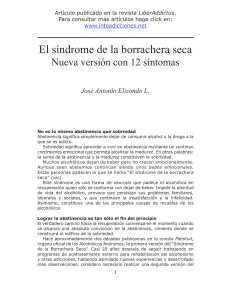 síndrome de la borrachera seca