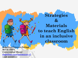 StrategiesandmaterialstoteachEnglishinaninclusiveclassroom