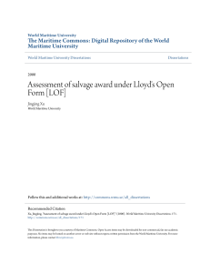 Assessment of salvage award under Lloyds Open Form [LOF]