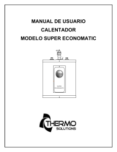 Manual de Usuario Calentador Super Economatic