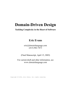 Domain-Driven Design  Tackling - Eric Evans 14
