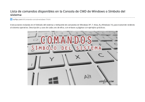 Comandos Disponibles En La Consola de Windows o Símbolo del Sistema